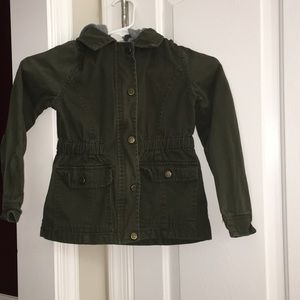 Girls size 7/8 Limited Too Army Green Jacket